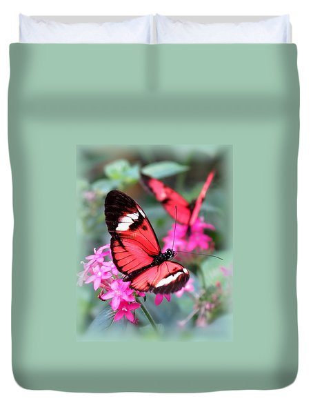 Pretty Pair - Butterflies Duvet Cover by MTBobbins Photography