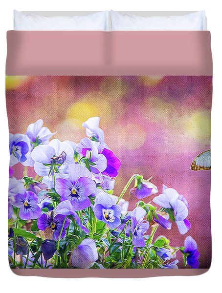 Pretty Pansies Duvet Cover