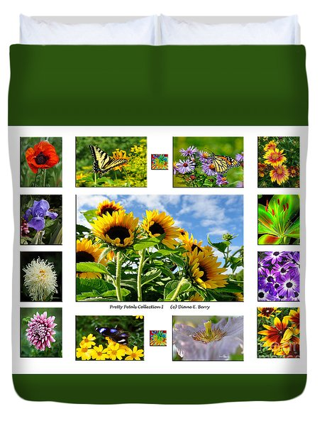 Pretty Petals Collection I Duvet Cover by Diane E Berry