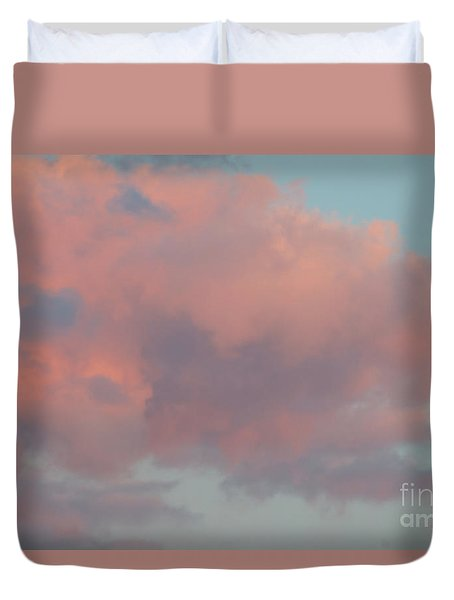 Duvet Cover featuring the photograph Pretty Pink Clouds by Ana V Ramirez