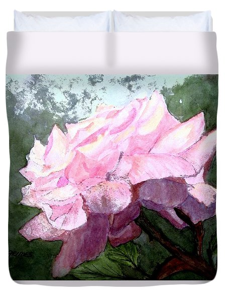 Pretty Pink Rose Duvet Cover