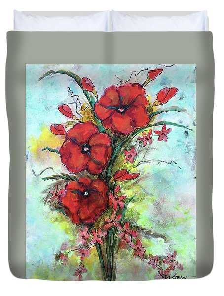 Pretty Poppies Duvet Cover