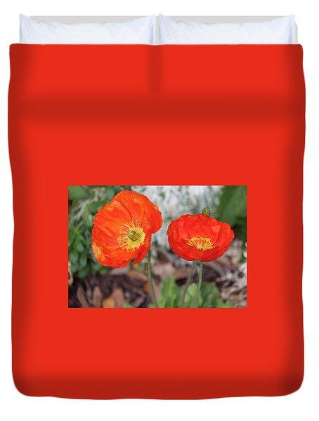 Pretty Poppies Duvet Cover