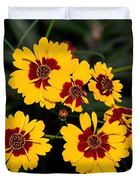 Pretty Yellow Flowers Duvet Cover