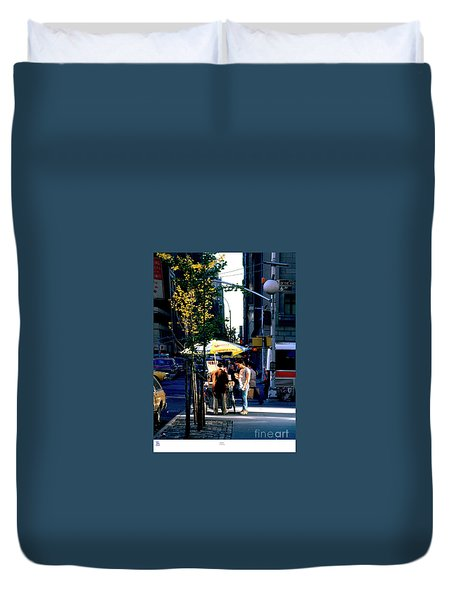Pretzels Stand Nyc Late Afternoon  Duvet Cover