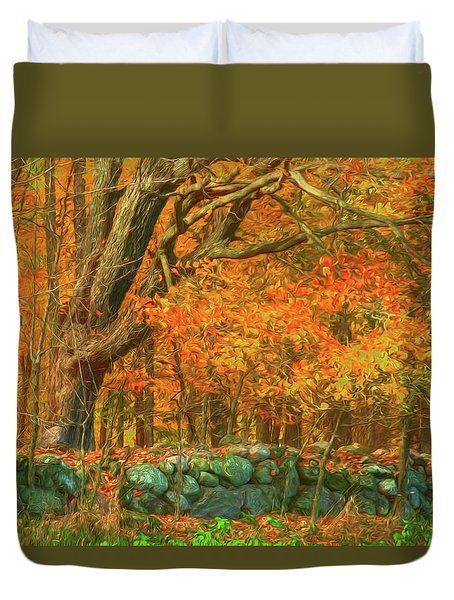 Preuss Road Stone Wall Duvet Cover by Trey Foerster