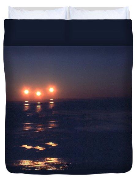 Preventing Sunset Duvet Cover