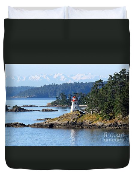 Prevost Island Lighthouse Duvet Cover