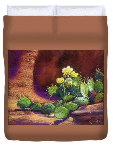 Pricklies On A Ledge Duvet Cover