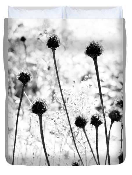 Duvet Cover featuring the photograph Prickly Buds by Deborah  Crew-Johnson