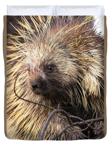 Duvet Cover featuring the photograph Prickly Character by Aaron Whittemore