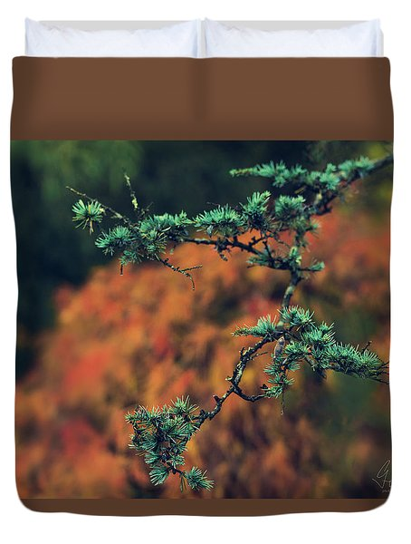 Duvet Cover featuring the photograph Prickly Green by Gene Garnace