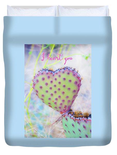 Prickly Heart Duvet Cover