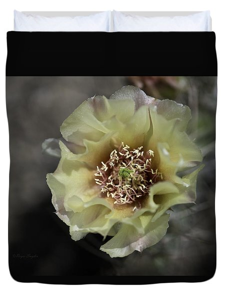 Prickly Pear Blossom 3 Duvet Cover