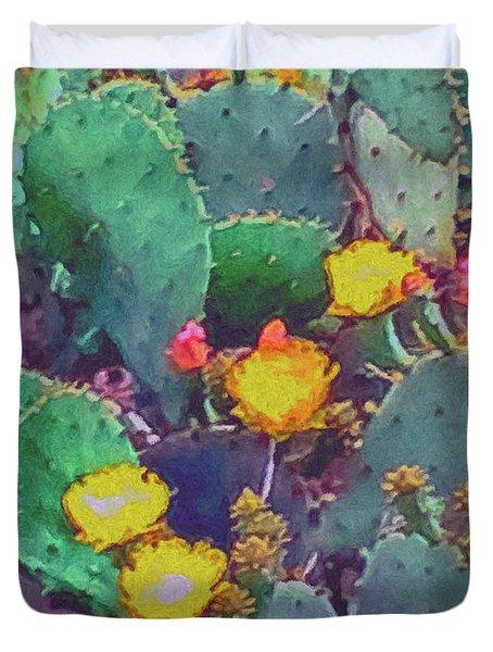 Prickly Pear Cactus 2 Duvet Cover
