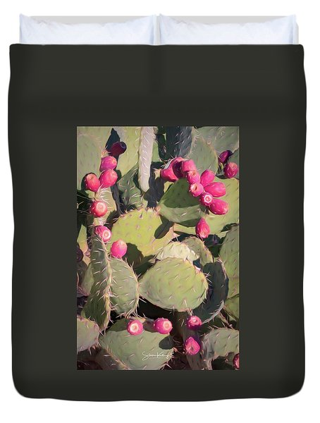 Prickly Pear Cactus Duvet Cover