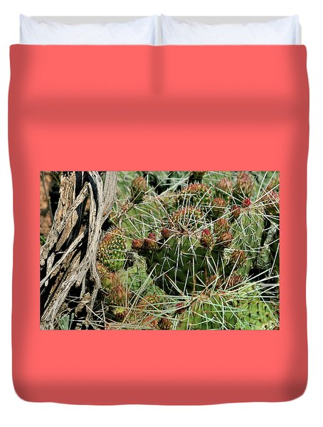 Prickly Pear Revival Duvet Cover