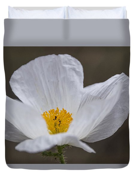 Prickly Poppy Duvet Cover by Laura Pratt