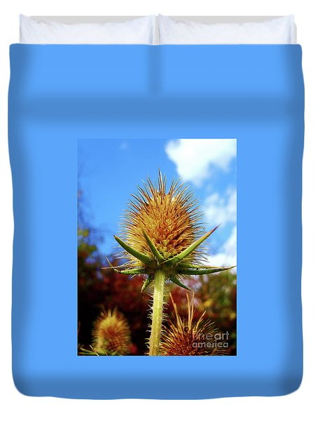 Duvet Cover featuring the photograph Prickly Thistle by Nina Ficur Feenan