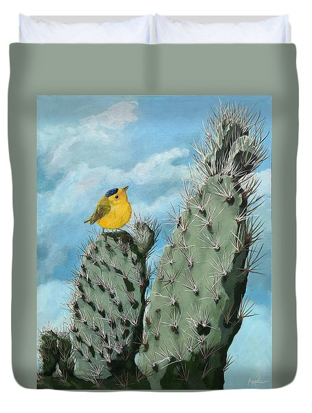 Prickly View - Wildlife Painting Duvet Cover