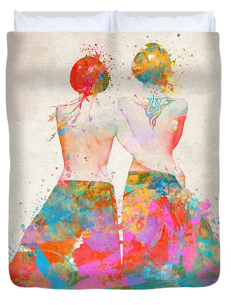 Duvet Cover featuring the digital art Pride Not Prejudice by Nikki Marie Smith