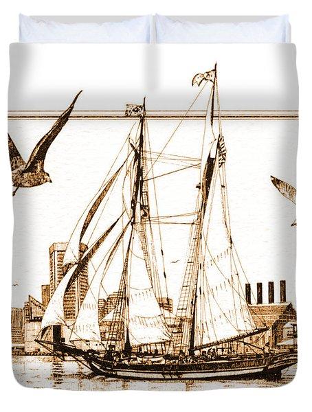 Pride Of Baltimore Duvet Cover by John D Benson