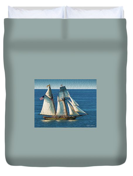 Pride Of Baltimore Duvet Cover