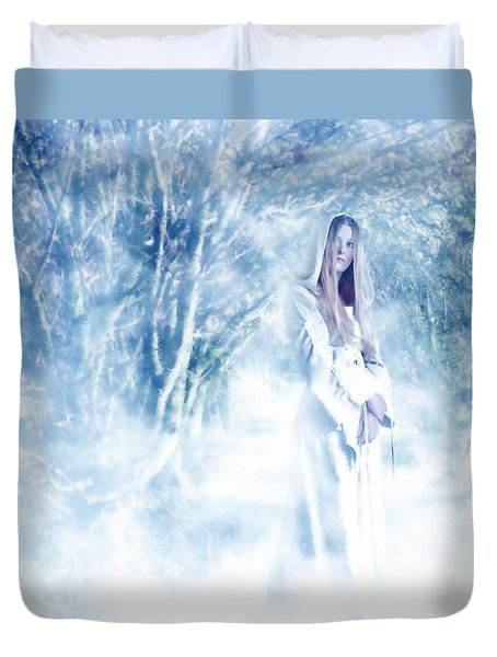 Priestess Duvet Cover by John Edwards