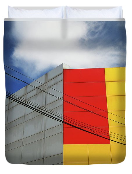 Duvet Cover featuring the photograph Primarily 1 by Skip Hunt