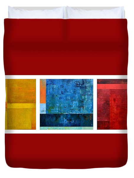 Duvet Cover featuring the painting Primary - Artprize 2017 by Michelle Calkins