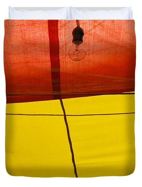Duvet Cover featuring the photograph Primary Light by Skip Hunt
