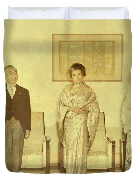 Prime Minister Of India Indira Gandhi Duvet Cover