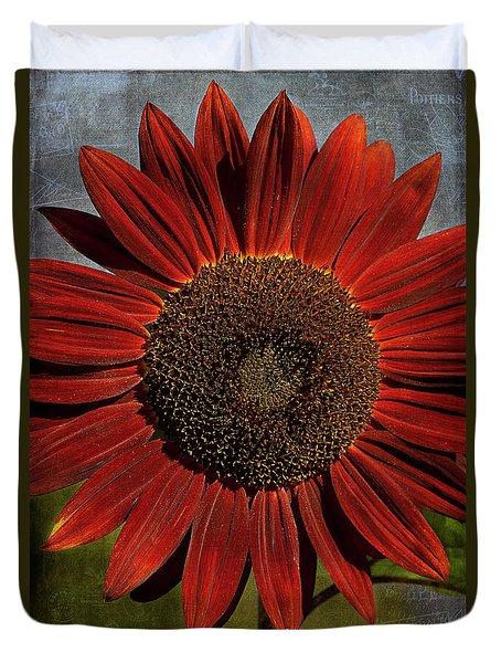 Primitive Sunflower 2 Duvet Cover