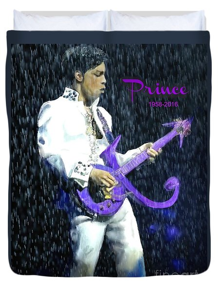 Prince 1958 - 2016 Duvet Cover by Vannetta Ferguson