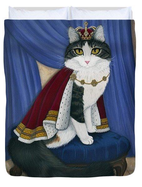 Prince Anakin The Two Legged Cat - Regal Royal Cat Duvet Cover
