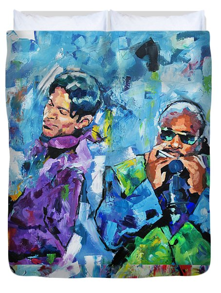 Prince And Stevie Duvet Cover