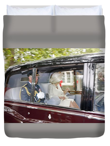 Prince Charles And Camilla Duvet Cover