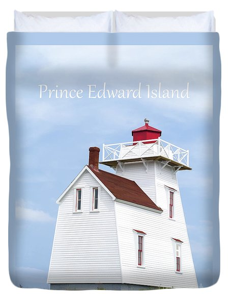 Prince Edward Island Lighthouse Poster Duvet Cover by Edward Fielding