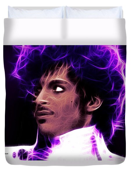 Prince - His Royal Badness Duvet Cover by Stephen Younts