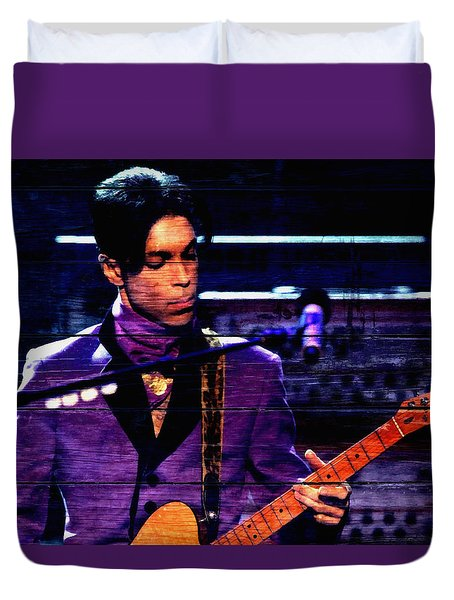 Prince In Concert Duvet Cover