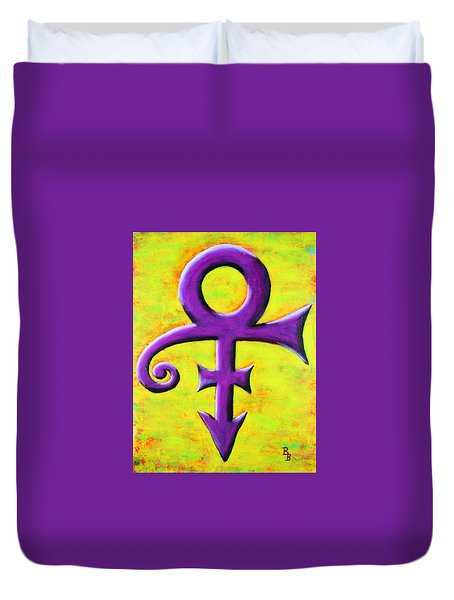 Prince Musician Purple Symbol Duvet Cover