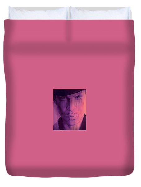 Prince - Purple Rain Duvet Cover by Lori Seaman