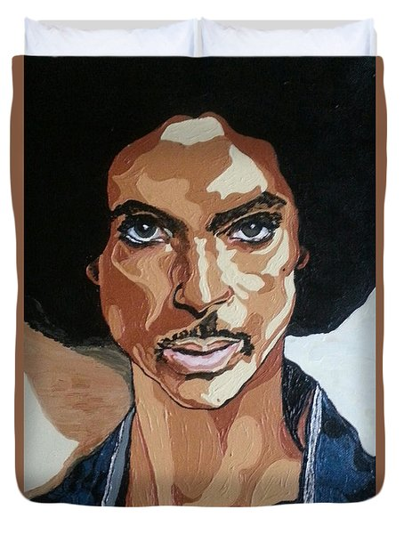 Prince Rogers Nelson Duvet Cover by Rachel Natalie Rawlins