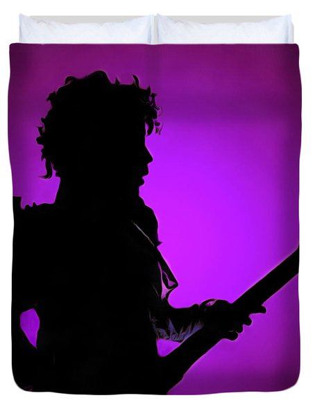 Prince Rogers Nelson Duvet Cover by Sergey Lukashin