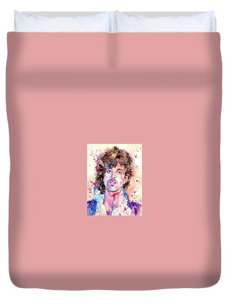 Prince Rogers Nelson Watercolor Duvet Cover
