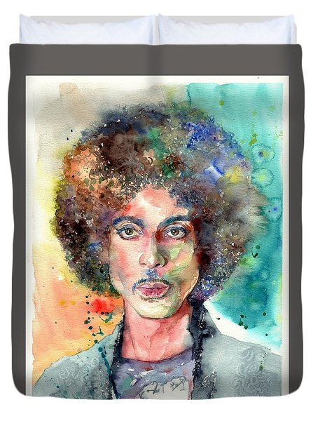 Prince Rogers Nelson Young Portrait Duvet Cover