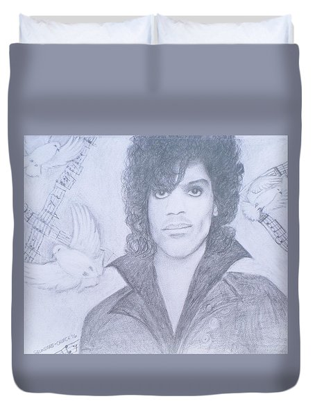 Prince When Doves Cry Duvet Cover by Christy Saunders Church