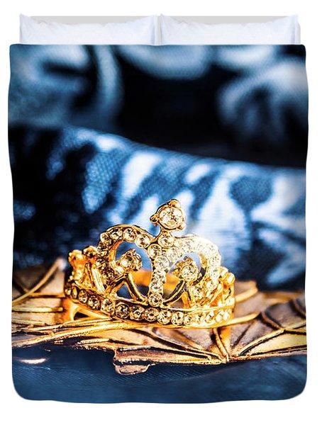 Princess Cut Diamond Ring Duvet Cover