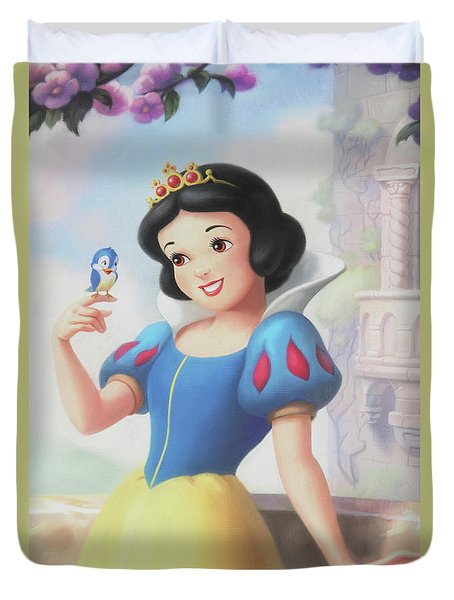 Princess Snow White Duvet Cover by The Art Of Marilyn Ridoutt-Greene