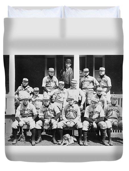 Princeton Baseball Team Duvet Cover by American School